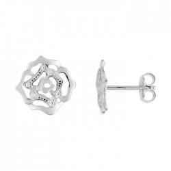 Fontenay Ladies Earrings - Brass - Rhodium Plated  (FSW370Z) in Kuwait | Xcite Alghanim