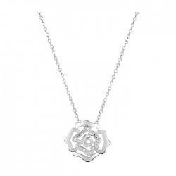 Fontenay Ladies Necklace - Brass - Rhodium Plated  (FSC370Z45E) in Kuwait | Xcite Alghanim