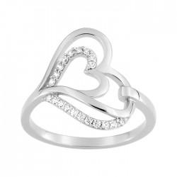 Fontenay Ladies Ring - Brass - Rhodium Plated 54 (FSR371Z-54) in Kuwait   Xcite Alghanim