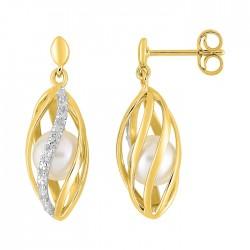 Fontenay Ladies Earrings - Brass - Gold Plated  (DSW360Z) in Kuwait | Xcite Alghanim