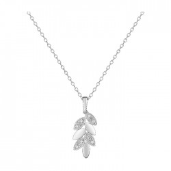 Fontenay Ladies Necklace - Brass - Rhodium Plated  (FSC357Z40E) in Kuwait | Xcite Alghanim