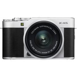 كاميرا فوجي فيلم الرقمية إكس - إيه ٥ القابلة لتبديل العدسة + عدسة ١٥ - ٤٥ ملم - أسود