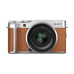 Fujifilm X-A7 Mirrorless Digital Camera with 15-45mm Lens - Caramel