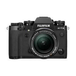 كاميرا فوجي فيلم X-T30 مع عدسة 18-55 ملم قابلة للتعديل - أسود