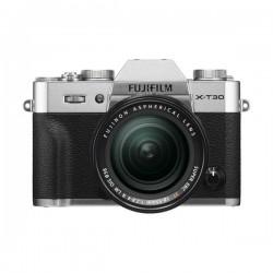 كاميرا فوجي فيلم X-T30 مع عدسة 18-55 ملم قابلة للتعديل - فضي