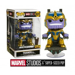 Funko Pop! Deluxe Marvel Action Figure - Thanos On Throne 6inch