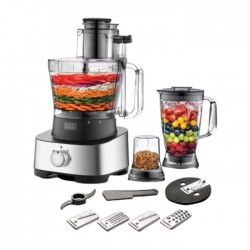 Black & Decker 880W/3.5L 4 In 1 Food Processor (FX1050-B5) in Kuwait | Buy Online – Xcite