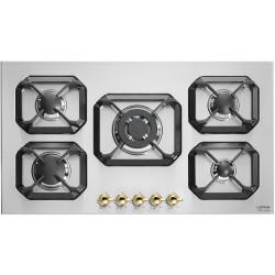 طباخ غاز مسطّح ومدمج  من لوفرا - ٩٠ سم - ٥ شعلة – أسود (HRS9A0)