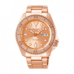 ساعة سيكو العصرية للرجال بحزام معدني و شاشة عرض تناظرية – 42.5 ملم - (RPE72K1) -  وردي مذهب