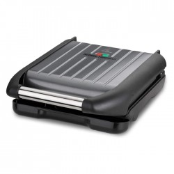 George Foreman 1650W Steel Medium Grill black small easy to clean buy in xcite kuwait