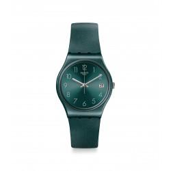 ساعة سواتش أشبايا كوارتز للجنسين بعرض تناظري و حزام مطاطي - ٣٤ ملم - (GG407)