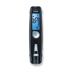 جهاز قياس نسبة السكر في الدم مع مدخل يو إس بي من بيورر جي إل ٥٠ - أسود
