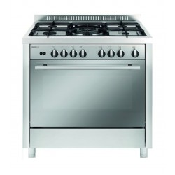 Glem Gas 90 x 60 cm 5 Burner Floor Standing Gas Cooker (MQB638RI01AM) - Front View