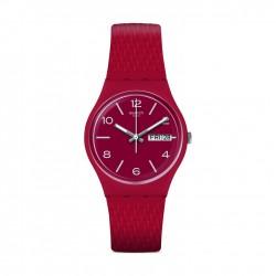 ساعة سواتش ليزيرد كوارتز للجنسين بعرض تناظري و حزام مطاطي - ٣٤ ملم - (GR710)