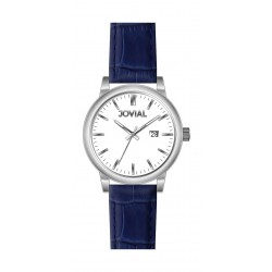 Jovial GS2009-51 Casual Analog Gents Watch – Leather Strap – Blue