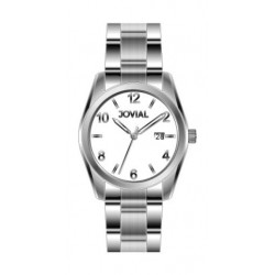 Jovial GS2010-01 Casual Analog Gents Watch - Metal Strap - Silver