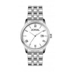 Jovial GS2012-01 Casual Analog Gents Watch - Metal Strap – Silver