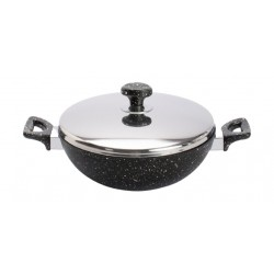 Saflon 28CM Work Pan With Stainless Steel Lid - GSA012