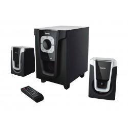 Hama PR-2120 2.1 Bluetooth Speaker System - Black Silver