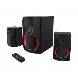 Hama PR-2180 2.1 Bluetooth Speaker System - Black Red