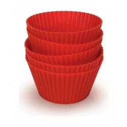أكواب المافن للقلاية بدون زيت من فيليبس – أحمر (HD9909/00)