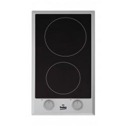 طباخ كهربائي مسطّح ومدمج من بيكو – ٣٠ سم – ٢ شعلة من السيراميك (HDCC 32200 X)