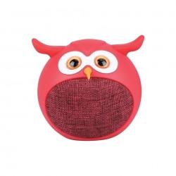 مكبر الصوت بروميت هيدويغ اللاسلكي بلوتوث بتصميم بومة - أحمر