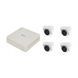 Hilook 4CH 1MP Camera Kit Surveillance (HLNH-104) - WHITE