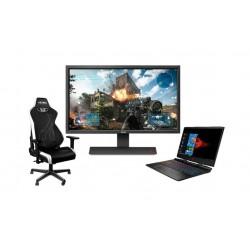 لابتوب الألعاب إتش بي أومين - كور آي ٧ - رام ١٦ جيجابايت - ١ تيرابايت إتش دي دي  (15-DC1002NE) + شاشة الألعاب إل سي دي من بينكيو - ٢٧ بوصة - (RL2755HM) + كرسي الألعاب