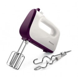 Philips Viva Collection 450W 5-Speed Hand Mixer (HR3740/11) – Purple / White
