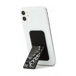HANDLstick Smartphone Holder Animal Skin - Black/White Snake