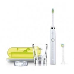 فرشاة الأسنان الكهربائية دايموند كلين السلسلة ٧ تعمل بالتقنية الصوتية من فيليبس سونيكير – أبيض  (HX9332/04)
