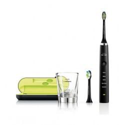 فرشاة الأسنان الكهربائية دايموند كلين السلسلة ٧ تعمل بالتقنية الصوتية من فيليبس سونيكير – أسود (HX9352/04)