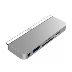 HyperDrive 6-in-1 USB-C iPad Hub - Silver