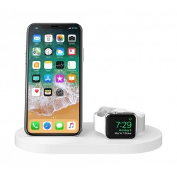 Belkin BOOST UP Wireless Charging Dock for iPhone + Apple Watch - White