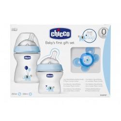طقم زجاجات الرضاعة شيكو ١٥٠ مل و٢٥٠ مل - أزرق (CHCN-000347)
