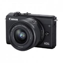 كاميرا كانون EOS M200 الرقمية بدون مرآة مع عدسة 15-45 مم (أسود)