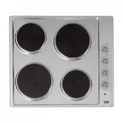 طباخ كهربائي مسطّح ومدمج من بيكو – ٦٠ سم –  شعلات بألواح تسخين (HIZE64100X)