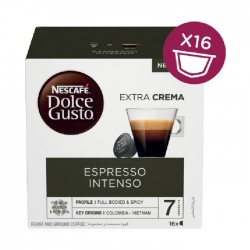 كبسولات قهوة انتنسو اسبريسو من دولتشي جوستو– ١٦ كبسولة