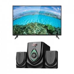 تلفزيون ونسا 32 بوصة كامل الوضوح إل إي دي - (WLE32J7762 ) + نظام وانسا ميني للوسائط المتعددة إف إم يو إس بي ٢,١ قناة بقوة ٤٠ واط (TK-521)