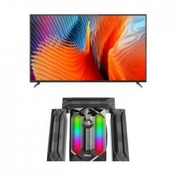 تلفزيون أل إي دي الذكي فائق الوضوح بحجم 50 بوصة من ونسا - (WUD50J7762S) + نظام وانسا ميني للوسائط المتعددة إف إم يو إس بي ٣,١ قناة بقوة ١٠٠ واط (TK-881)
