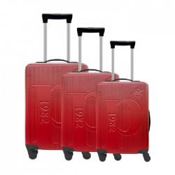 طقم حقائب عدد 3 بحجم 75.5*48*30 سم من يو اس بولو - أحمر