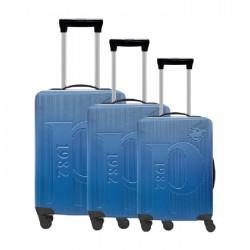 طقم حقائب عدد 3 بحجم 75.5*48*30 سم من يو اس بولو - أزرق