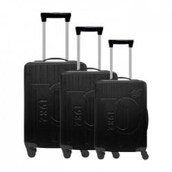طقم حقائب عدد 3 بحجم 75.5*48*30 سم من يو اس بولو - أسود