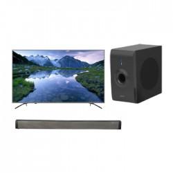 تلفزيون هايسنس الذكي 55 بوصة كامل الوضوح إل إي دي - 55B7200UW + ساوند بار بقوة 30 واط من ونسا (LY-S218W) + مضخم صوت بقوة 30 واط من ونسا (LY-S218W)