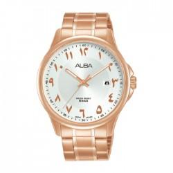 ساعة ألبا أنالوج للرجال - 41 ملم - أرقام عربي و سوار معدني - (AS9L70X1)