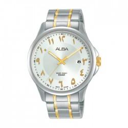 ساعة ألبا أنالوج للرجال - 41 ملم - أرقام عربي و سوار معدني - (AS9L67X1)