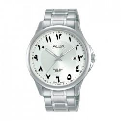 ساعة ألبا أنالوج للرجال - 41 ملم - أرقام عربي و سوار معدني - (AS9L65X1)