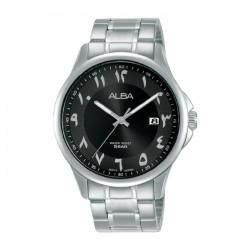 ساعة ألبا أنالوج للرجال - 41 ملم - أرقام عربي و سوار معدني - (AS9L63X1)