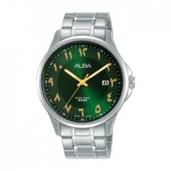 ساعة ألبا أنالوج للرجال - 41 ملم - أرقام عربي و سوار معدني - (AS9L61X1)